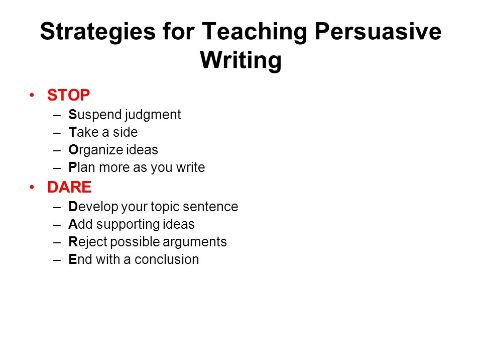 Writing Essay Structure