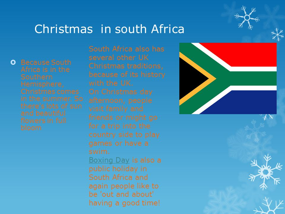 Christmas in africa ppt download christmas in south africa sciox Images