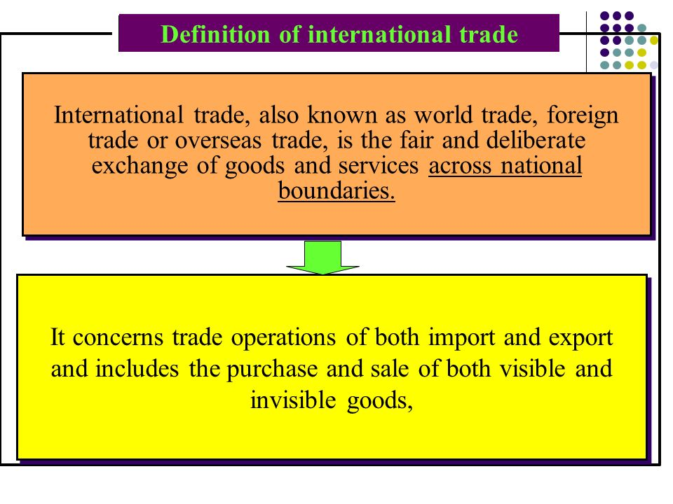Definition of foreign market
