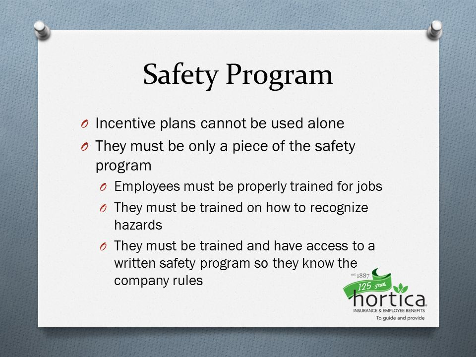 Safety Incentive Program  Ppt Video Online Download