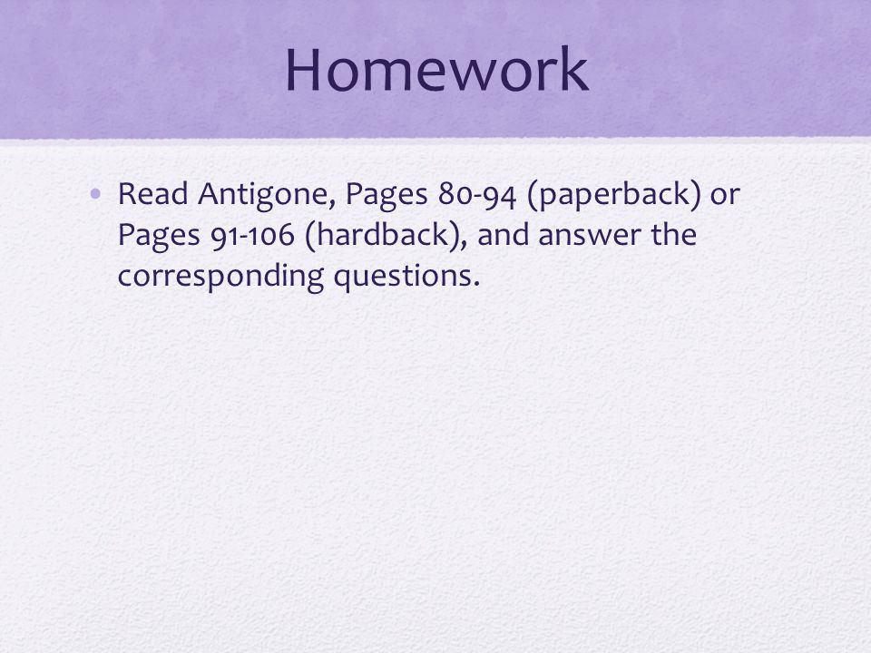 Do Now What sorts of burial rites are common in the Western world – Antigone Worksheet Answers