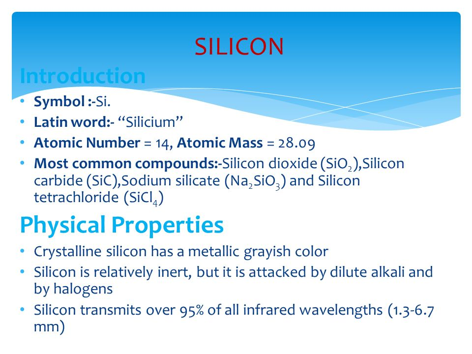 Silicon Carbide Physical Properties