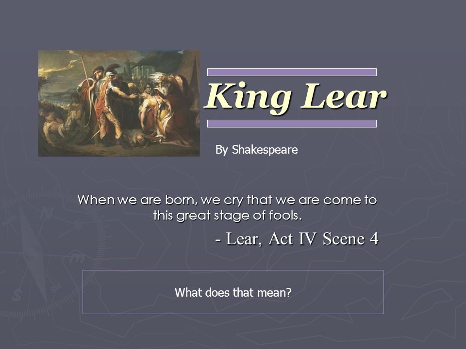 essay on king lear the fool Essay title: the role and function of the fool in king lear explore the role and function of 'the fool' in 'king lear' the fool in 'king lear' is a william shakespeare creation.