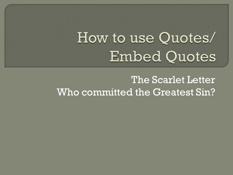 sin quotes scarlet letter
