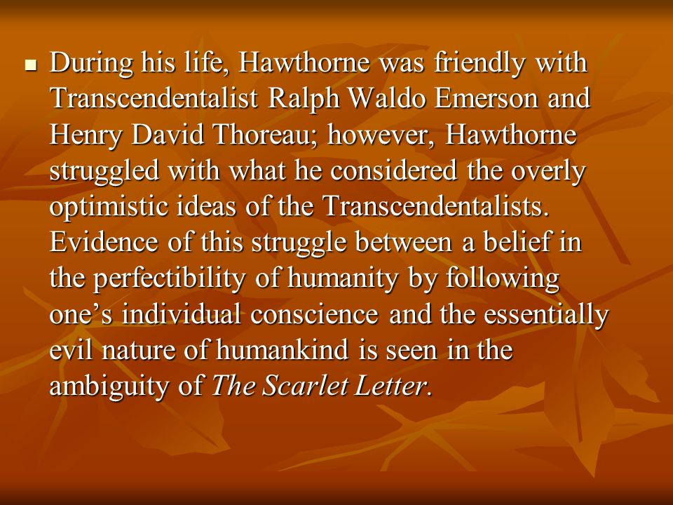 an analysis of transcendentalist works by ralph waldo emerson and henry david thoreau With the help of works from henry david thoreau and ralph waldo emerson to transcendentalism and the works of henry thoreau and transcendentalism.