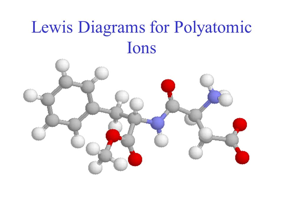 Lewis Diagrams For Polyatomic Ions Ppt Video Online Download