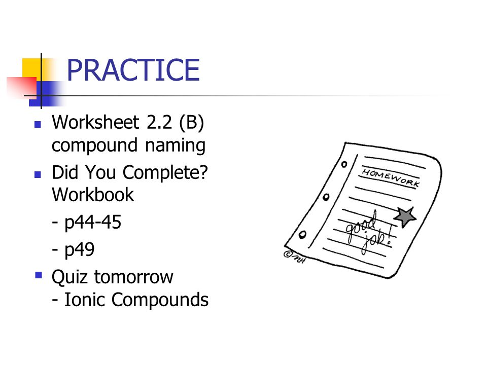 22 IONIC COMPOUNDS POLYATOMIC ppt video online download – Ionic Compound Naming Worksheet