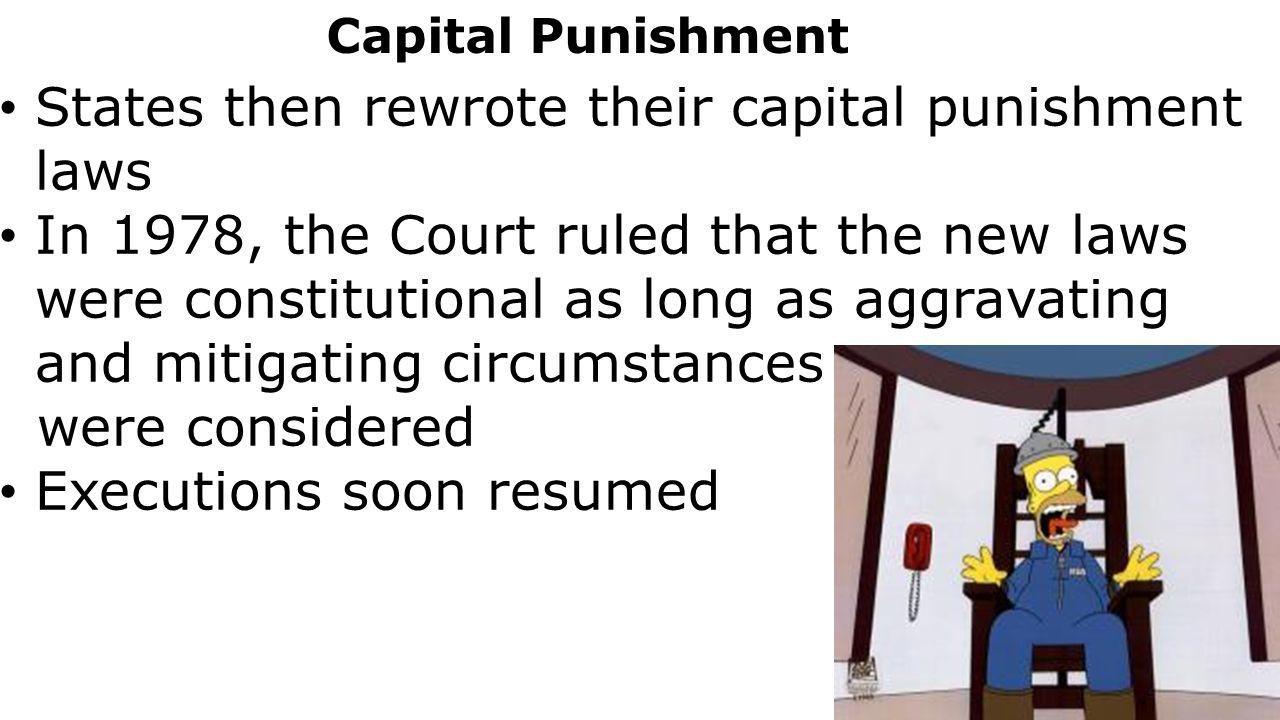 Capital punishment constitutional essay