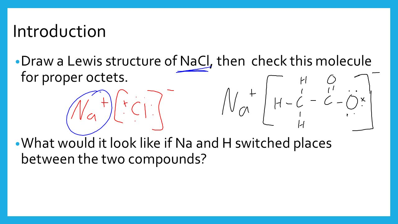 Do Now Draw a Lewis Structure for SrO Draw a Lewis ... Nacl Lewis Structure