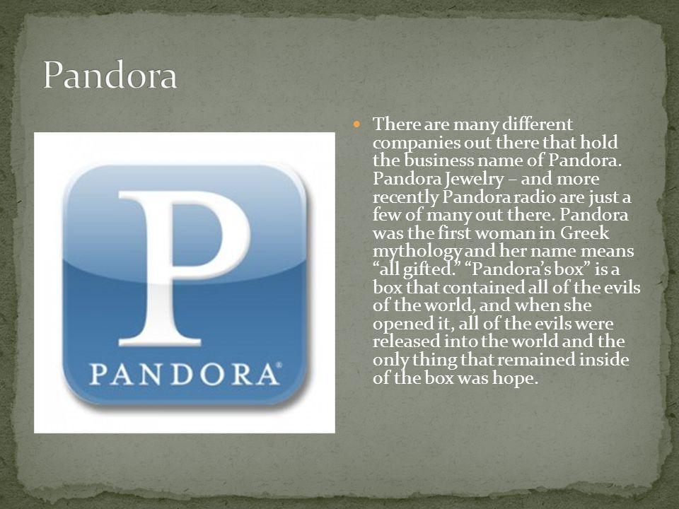 The myth of Pandora's box