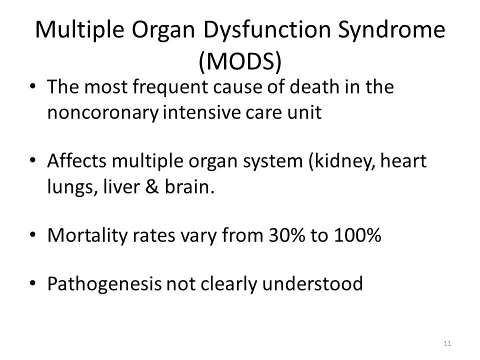 the multiple organ dysfunction syndrome essay Define the systemic inflammatory response syndrome, sepsis, severe sepsis, septic shock, and multiple organ dysfunction syndrome 1 answer all parts of this question.