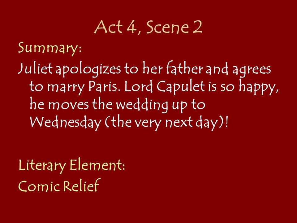 comic elements in romeo and juliet Namely: romeo and juliet, julius caesar, hamlet, othello, king lear,   that point, however, the comic element ceases  with two excep tions the first of .