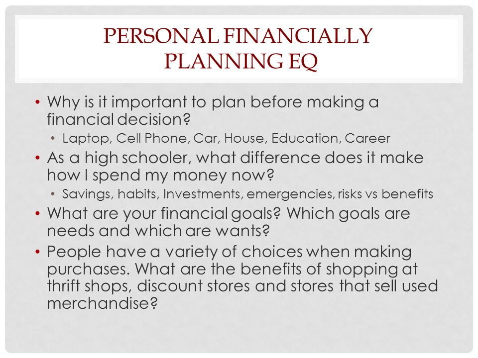 why is personal finance important Foundations in personal finance has been taught in over 40% of high schools   each of the 12 chapters cover important money topics that build financial.