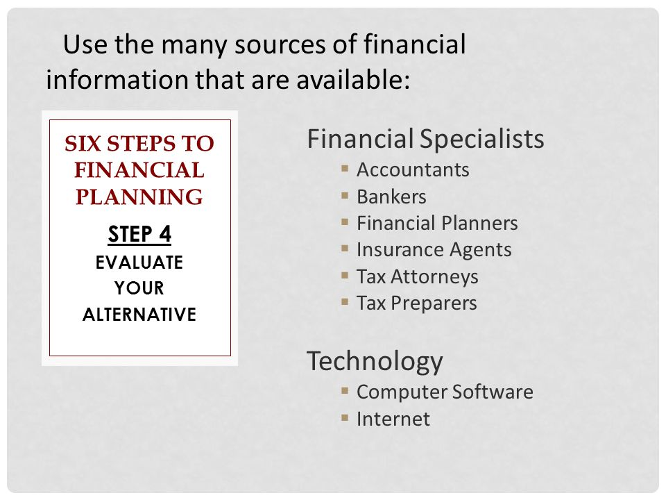 evaluate sources of finance Financial ratio analysis  is there adequate diversity of revenue sources  number to evaluate your ability to weather hard times.