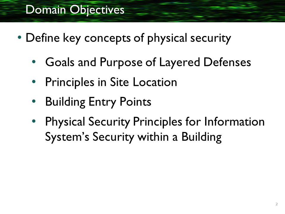 physical security principles Physical security is one the national strategy for the physical protection of critical infrastructures and key assets outlines the guiding principles to.