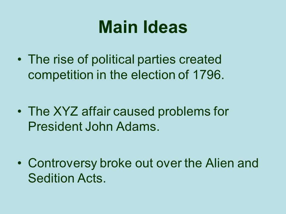 what led to the rise of political parties in the 1790s Inb #11 : dbq--the rise of political parties directions: read the seven documents attached and answer the focus questions below after you have read all seven documents, answer the essential question what led to the rise of political parties in the 1790s.