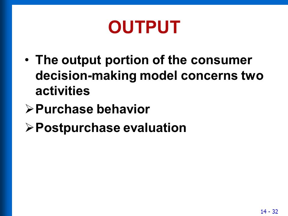 consumer decision making behavior in pakistan The amount of time and effort a buyer invests in the search, evaluation, and decision process of consumer behavior routine response behavior (low involvement products) frequently purchased, low cost goods and services are generally associated with _______ consumers spend little time on search and decision before purchasing.