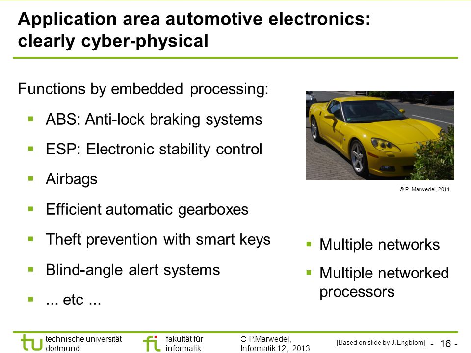 Application area automotive electronics: clearly cyber-physical
