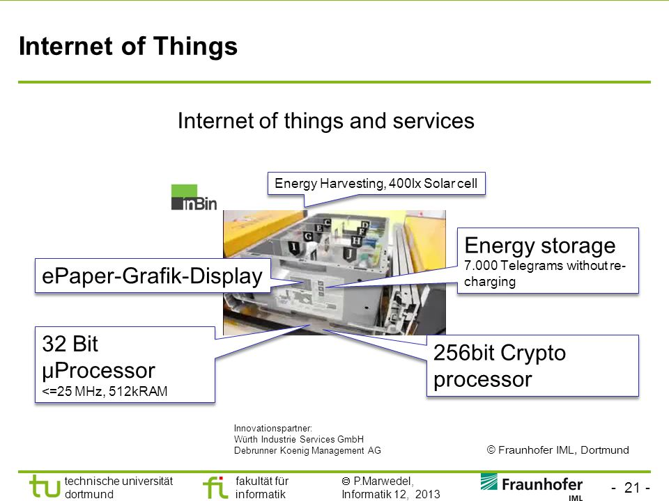 Internet of things and services
