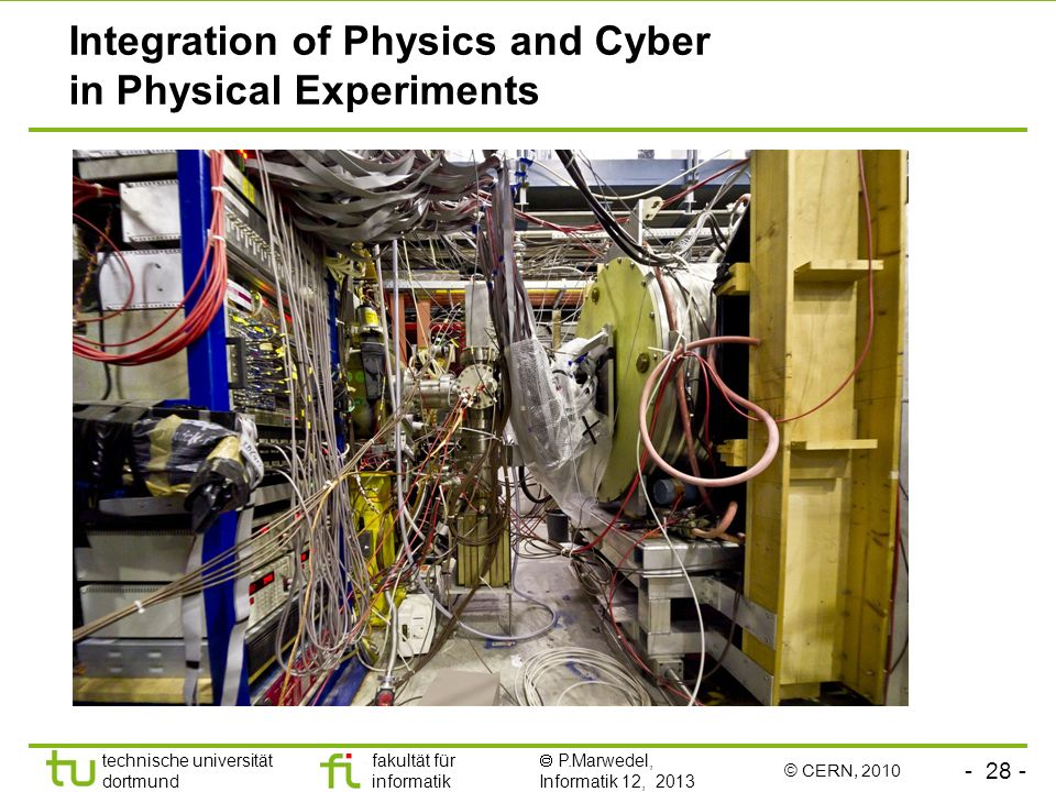 Integration of Physics and Cyber in Physical Experiments