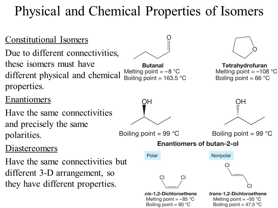 Enantiomers Have Same Physical Properties