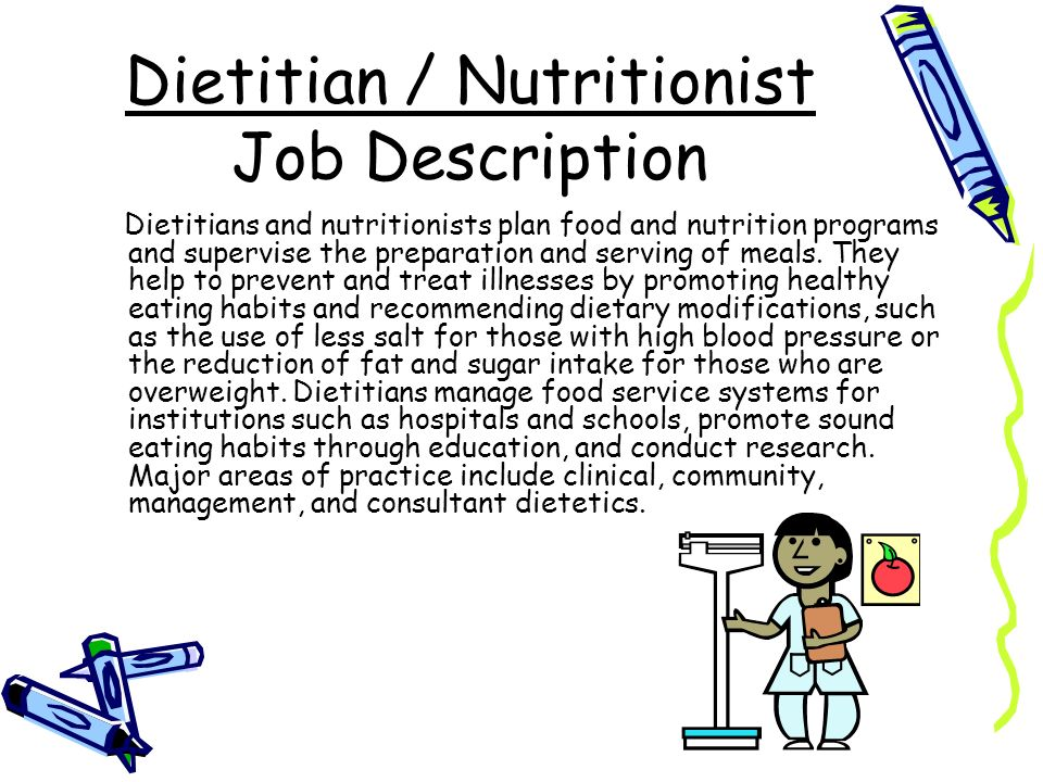 the career of a dietitian Regardless of the type of career in food and nutrition one chooses, possessing certain skills is vital to becoming an effective professional in dietetics.