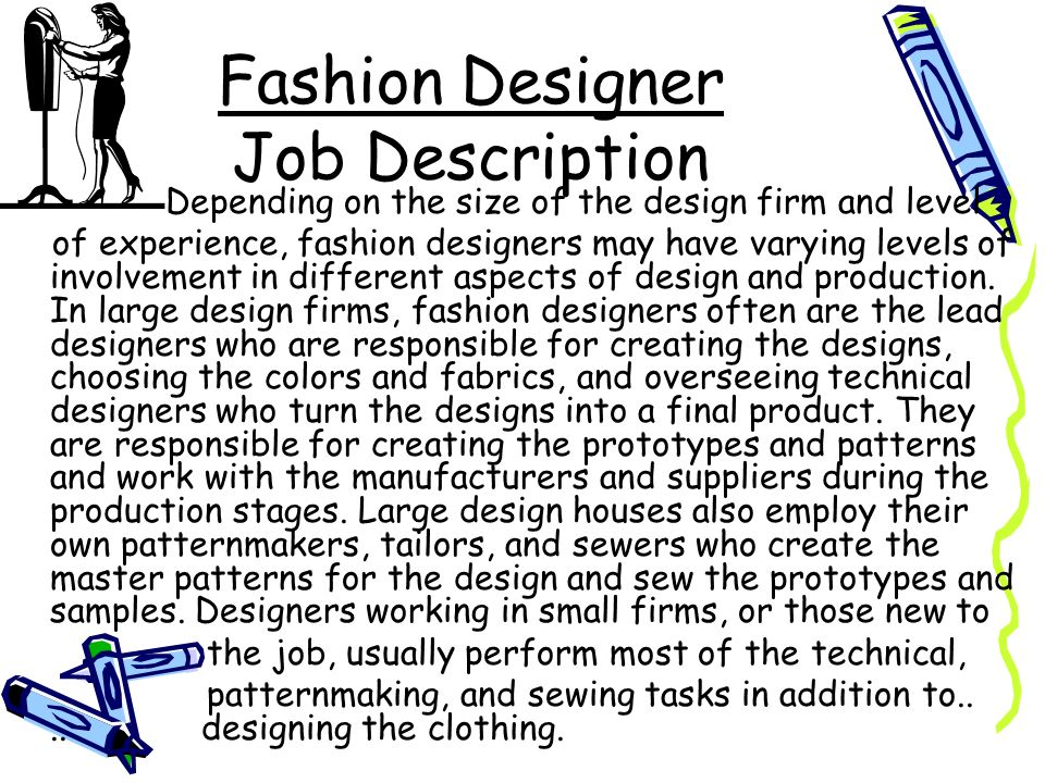 Occupational outlook tiffany frohwein ppt video online download for Work from home fashion design jobs