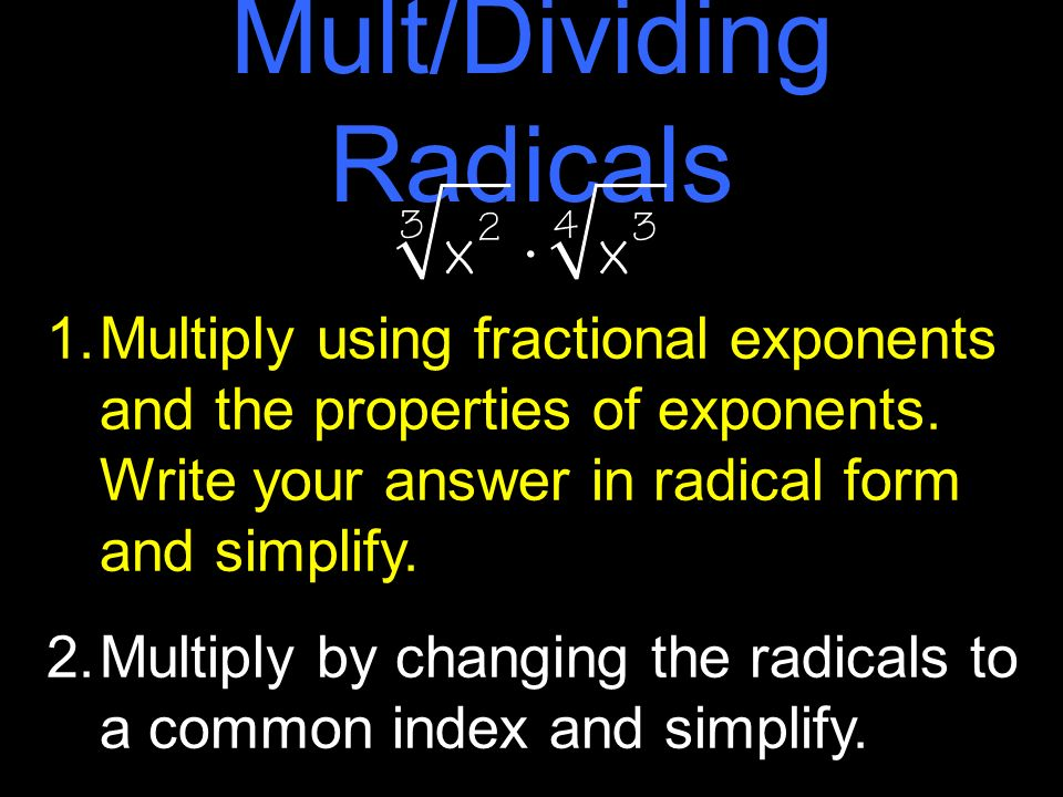 how to add and subtract radicals with different radicand