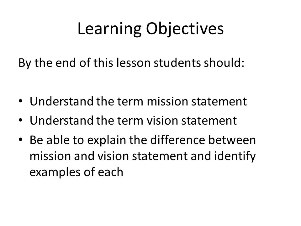 13 Organisational Objectives Mission Vision Statements Ppt