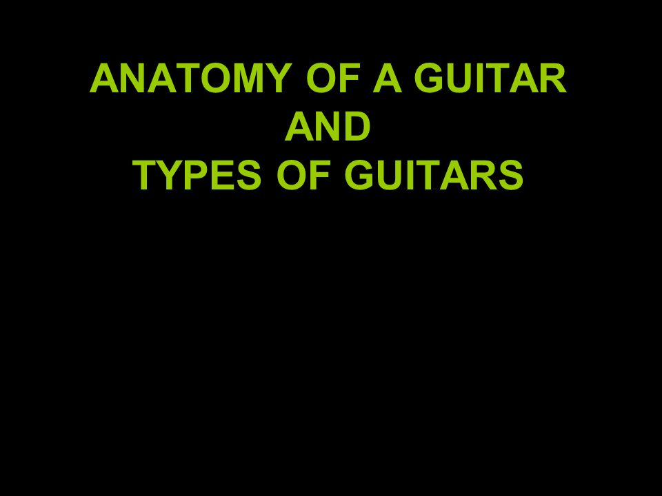 ANATOMY OF A GUITAR AND TYPES OF GUITARS - ppt video online download
