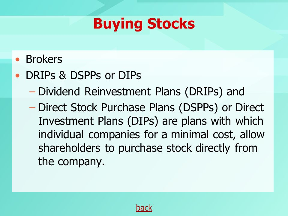 Online stock broker dividend reinvestment