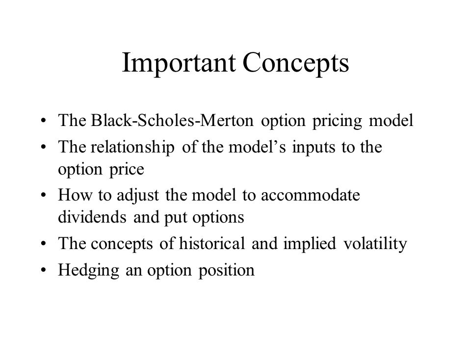 Black scholes method stock options