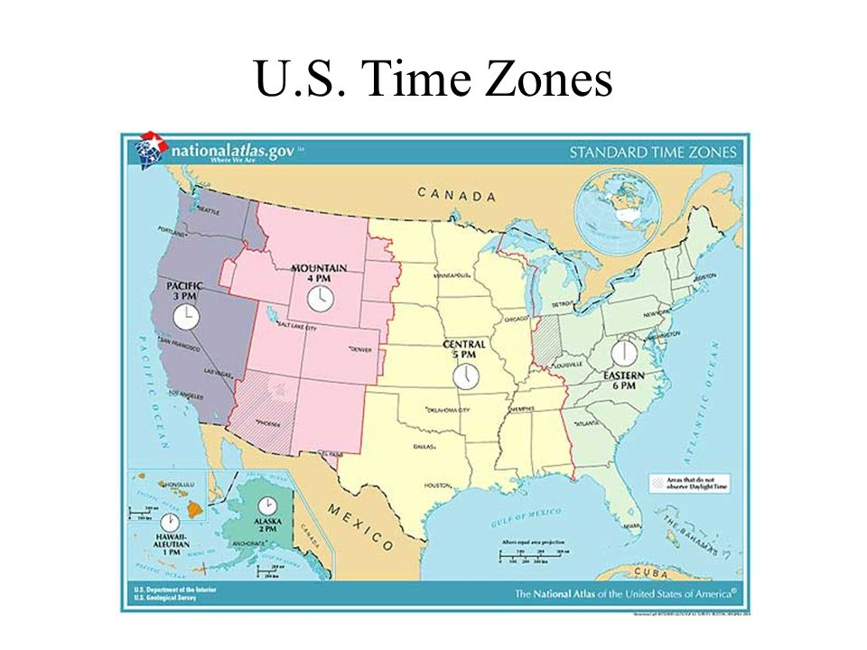 Time Zone Map Of The United States Nations Online Project OC