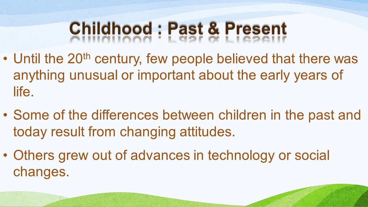 an analysis of the technological changes of the past and present Technological advancements and their effects on humanity  many changes have been brought about by these continuous technological advancements  we used to have .