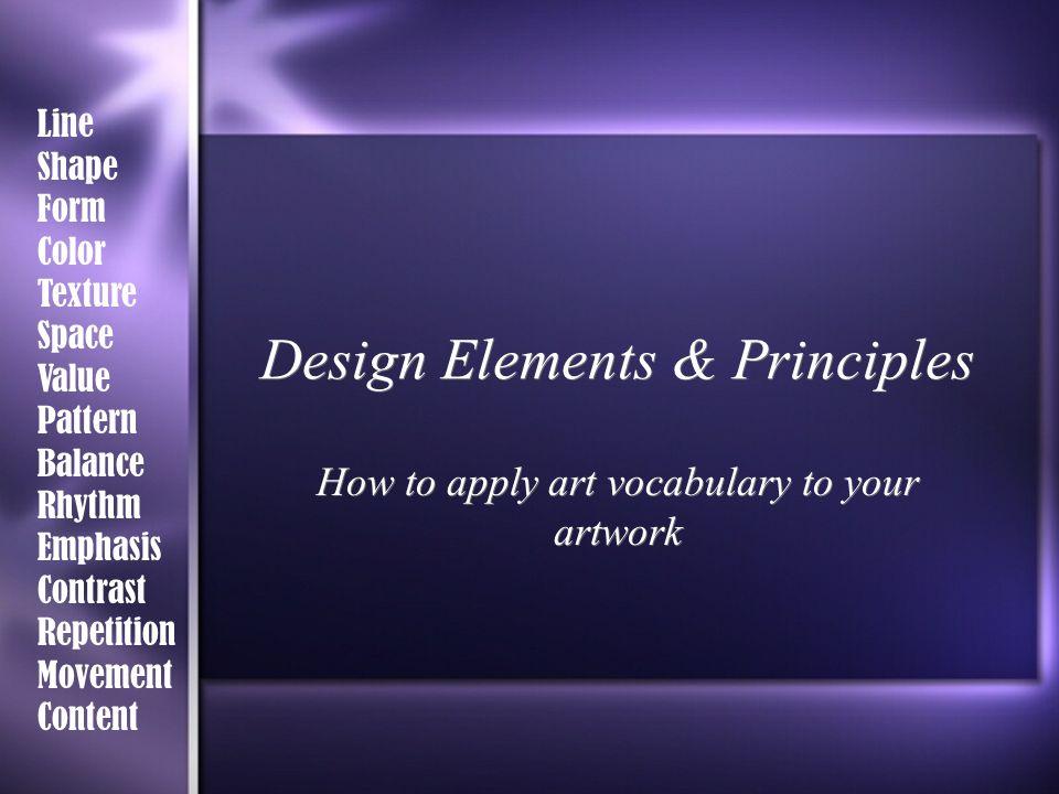 Elements And Principles Of Design Space : Design elements principles ppt video online download
