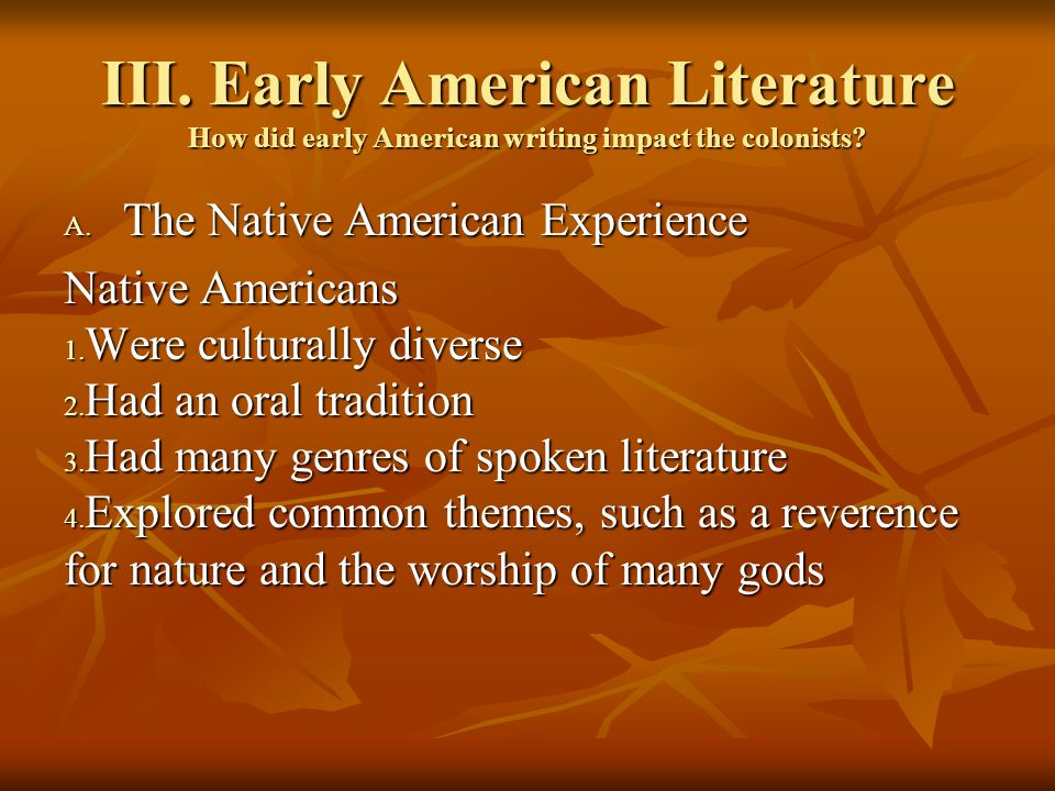 native american experience essay In this activity, students will explore the perspectives of two native american  authors about the  what can we learn from diverse groups shared experiences   the second document is an essay by jacqueline keeler, a member of the  dineh.
