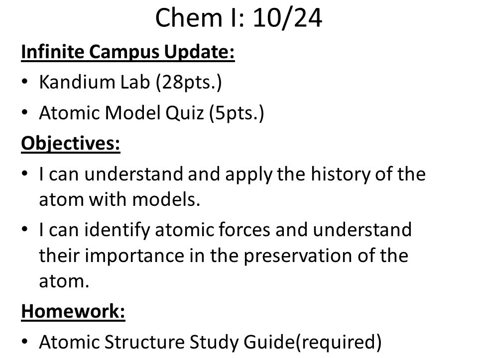 Atomic structure pre assess ppt video online download chem i 1024 infinite campus update kandium lab 28pts ccuart Image collections