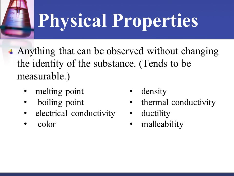 Is Conductivity A Physical Or Chenical Property