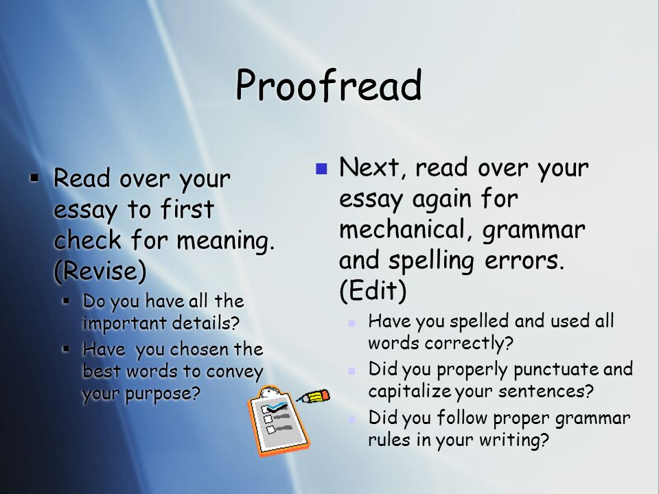 when you read through your essay In a sense, you are repackaging your thesis statement in your concluding paragraph by helping the reader to remember the journey through your essay nail the last sentence  if your title and first paragraph make the reader want to read your essay, then your last sentence makes the reader remember you.