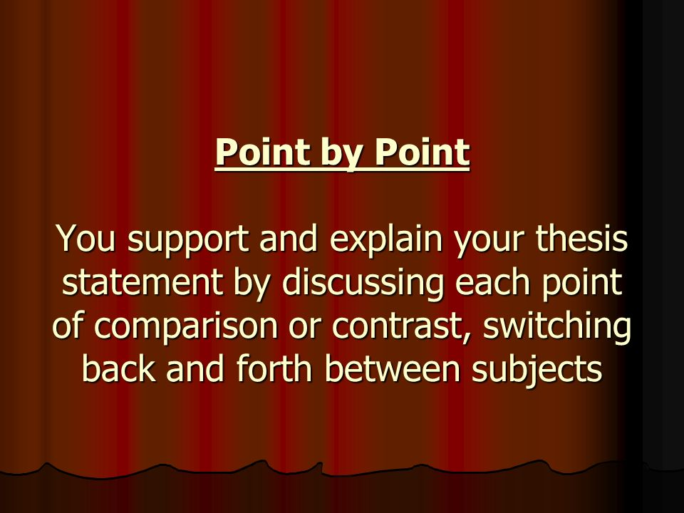point by point thesis Teaches students to write a clear three point thesis statement.