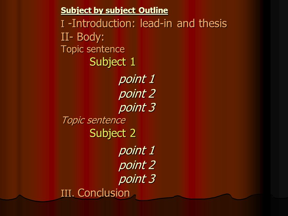 comparison contrast essay subject subject If you were to structure your essay to compare elements subject by subject,  the literary comparison contrast essay  how to compare and contrast two books.