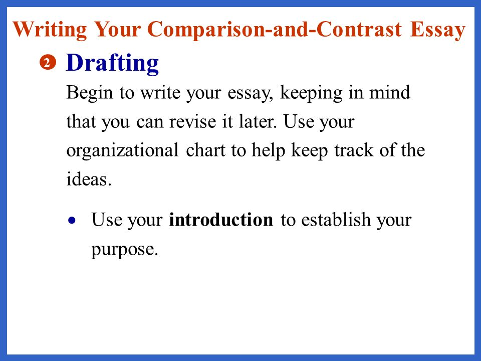 how do you write an introduction to a compare and contrast essay