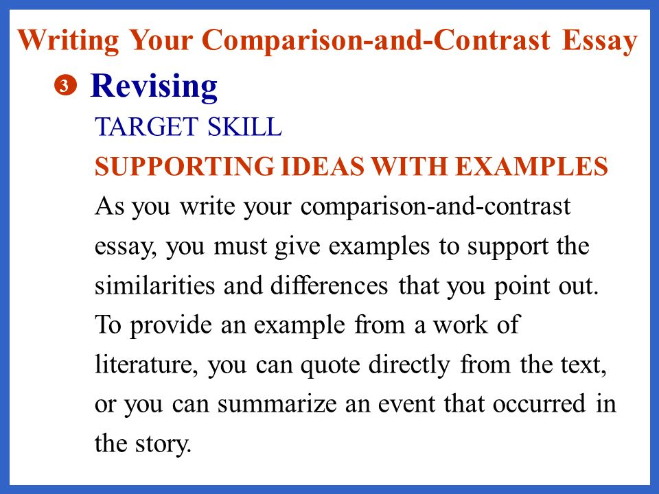 identifying similarities and differences ppt revising writing your comparison and contrast essay target skill