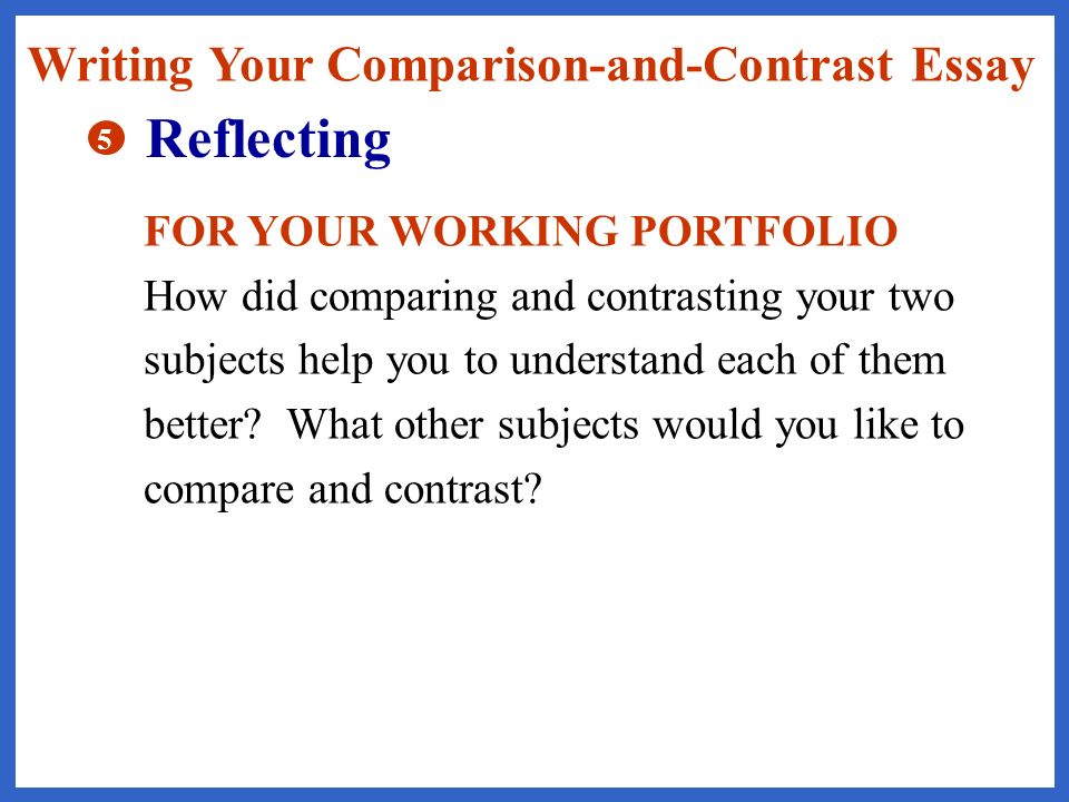 comparison and contrast essay help This lesson explains what it is to write a compare and contrast essay for the student who needs to describe two subjects, a compare and contrast.