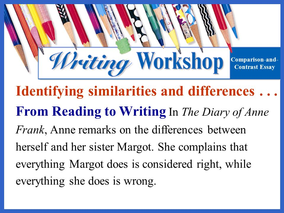 anne frank compare contrast Free essays on anne frank book and movie compare and contrast essay get help with your writing 1 through 30.