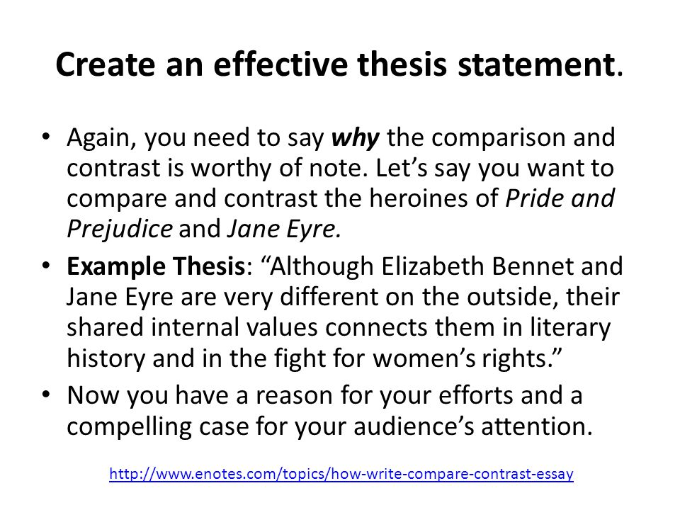 thesis builder for compare and contrast essay A compare and contrast essay analyzes two subjects or ideas by comparing or contrasting them in many cases, an assignment requires both the point of this essay is to demonstrate a deep understanding of the subject, the ability to research, and it also shows a student's potential to analyze information from different angles.