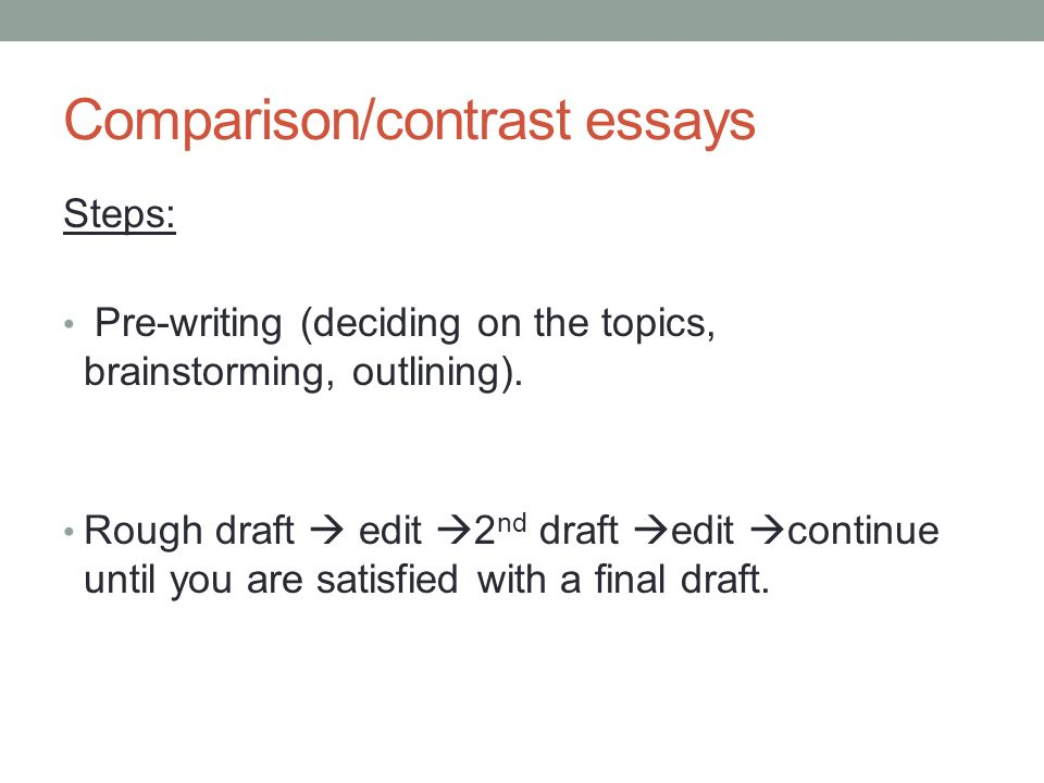 comparison essay outline