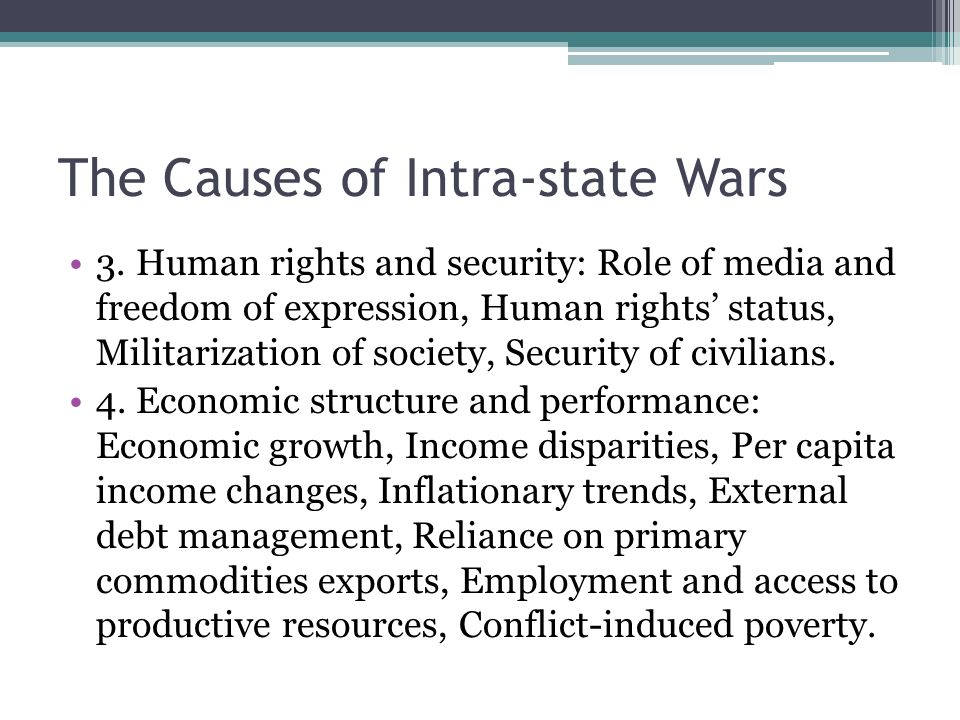 the major causes of conflict in the human society The underlying cause of most conflicts is lack of communication  association of  the parties behaviour  use of limited resources, including human resources.