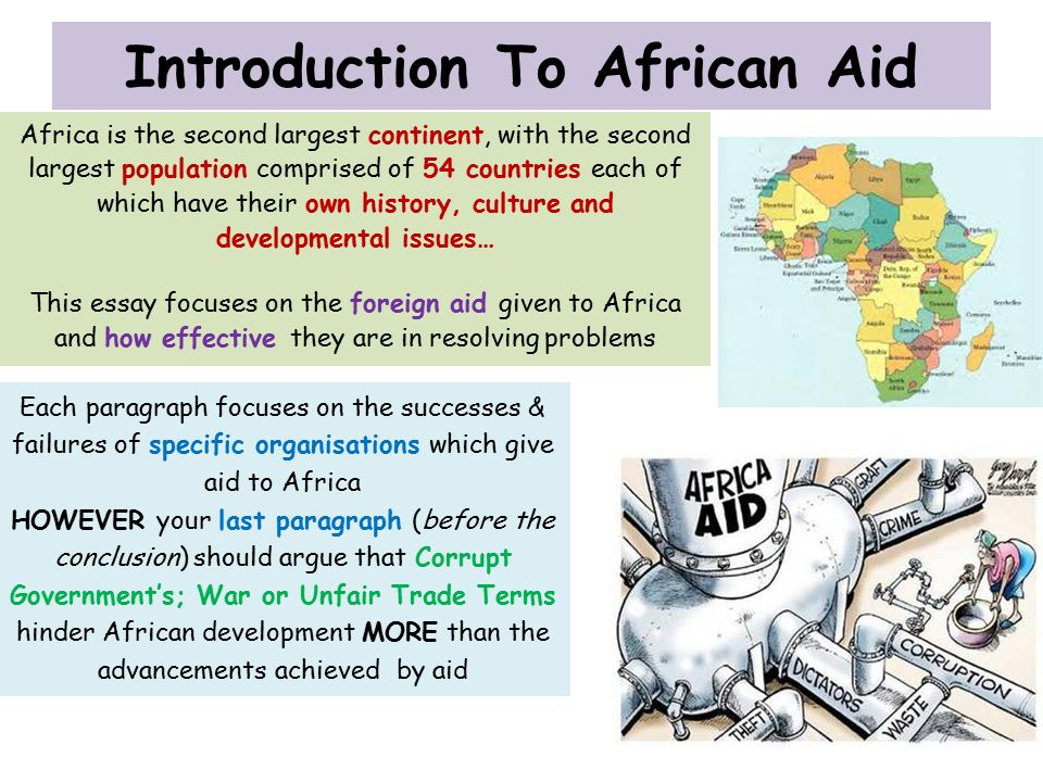 Introduction To African Aid on cartoon money problems