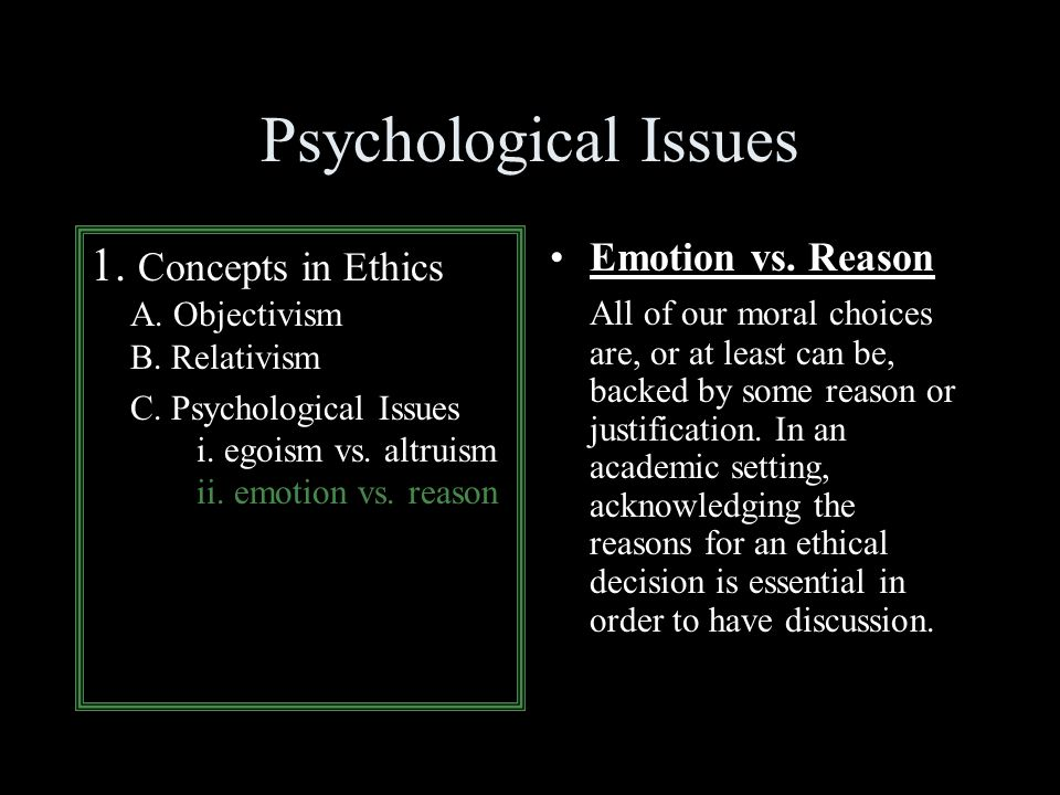 Psychological Egoism vs Ethical Egoism